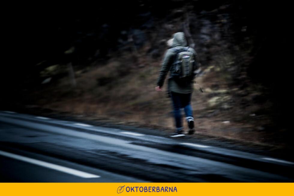 PÅ FLUKT: «Armin» prøver å komme seg ut av Norge. Målet er Spania. Foto: Christian Roth Christensen / Dagbladet