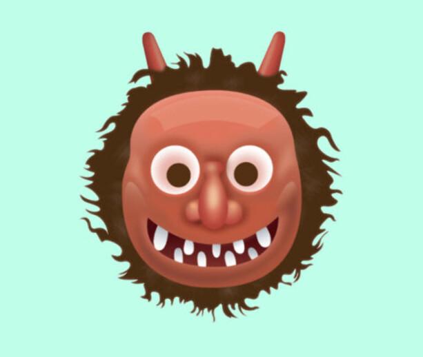 JAPANSK TROLL: Nope, dette er ikke en skummel maske. Det er et japansk troll, som gjerne dukker opp i japansk kunst og litteratur.