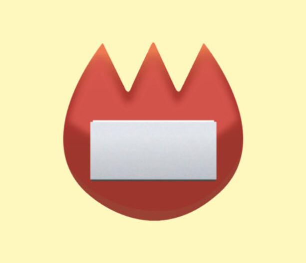 NAVNESKILT: Ikke noe flammer her, nei – dette skal forestille et navneskilt.