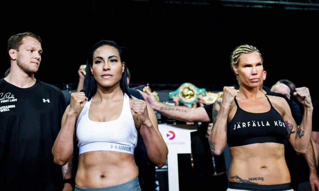 BODYGUARD: Cecilia Bræhus har hentet inn MMA-utøver Marthin Hamlet Nielsen for å sørge for at Mikaela Laurén ikke gjorde flere stunts. Foto: John T. Pedersen / Dagbladet