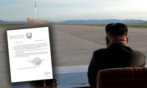 image: Nord-Korea med åpent brev til verden: «En alvorlig trussel mot verdensfreden»