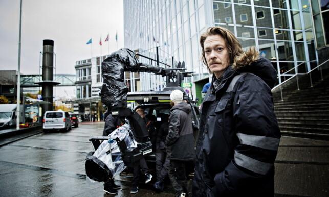 PÅ SETT: Skuespiller Kristoffer Joner spiller geologen Kristian Ekjord i katastrofefilmen «Skjelvet». Foto: Nina Hansen / Dagbladet