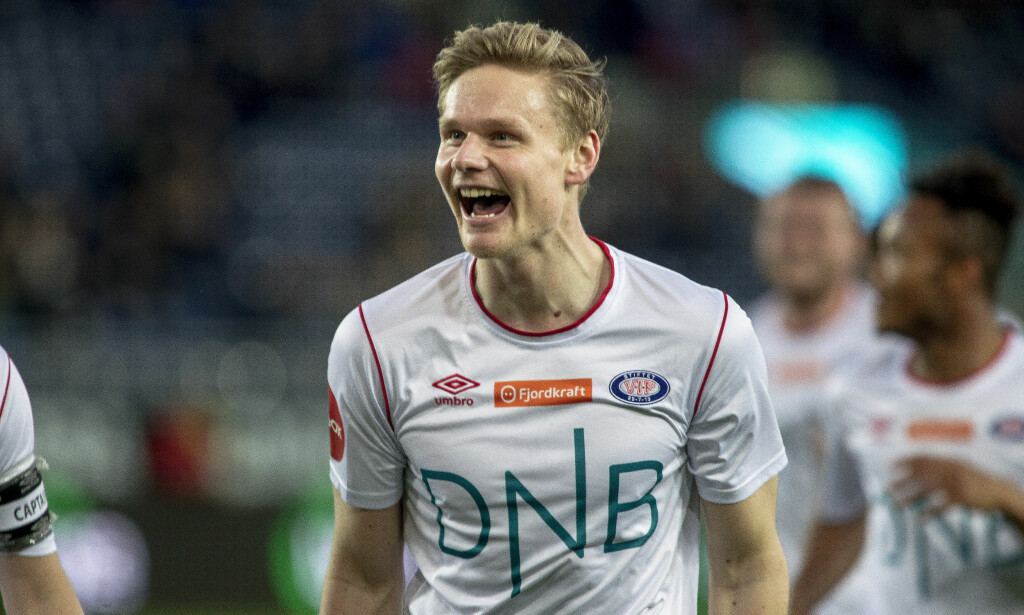BRILJERTE: Simen Juklerød scoret tre mål mot Viking da Vålerenga vant 7-1 på Viking stadion. Foto: Carina Johansen / NTB Scanpix