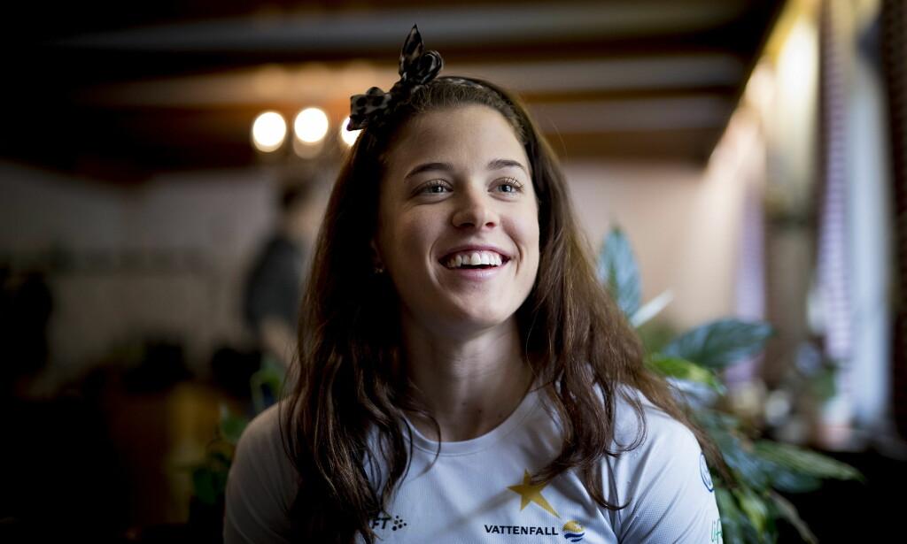 I FULL ÅPENHET: Den svenske langrennsløperen Anna Dyvik valgte å være åpen om panikkangsten sin. Her møter hun Dagbladet i Val Senales. <br>Foto: Bjørn Langsem