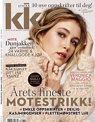 STRIKKEOPPSKRIFT: Du finner oppskriften på cover-genseren i KK36.
