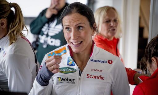 OVERRASKET: Marit Bjørgen er både smigret og overrasket over at Martin Johnsrud Sundby har hentet så mye inspirasjon og lærdom fra henne. Foto: Bjørn Langsem / Dagbladet