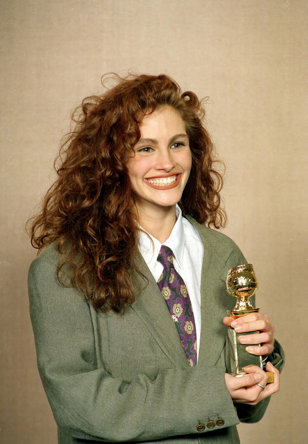 Julia Roberts vant Golden Globe for beste kvinnelige birolle i 1990.