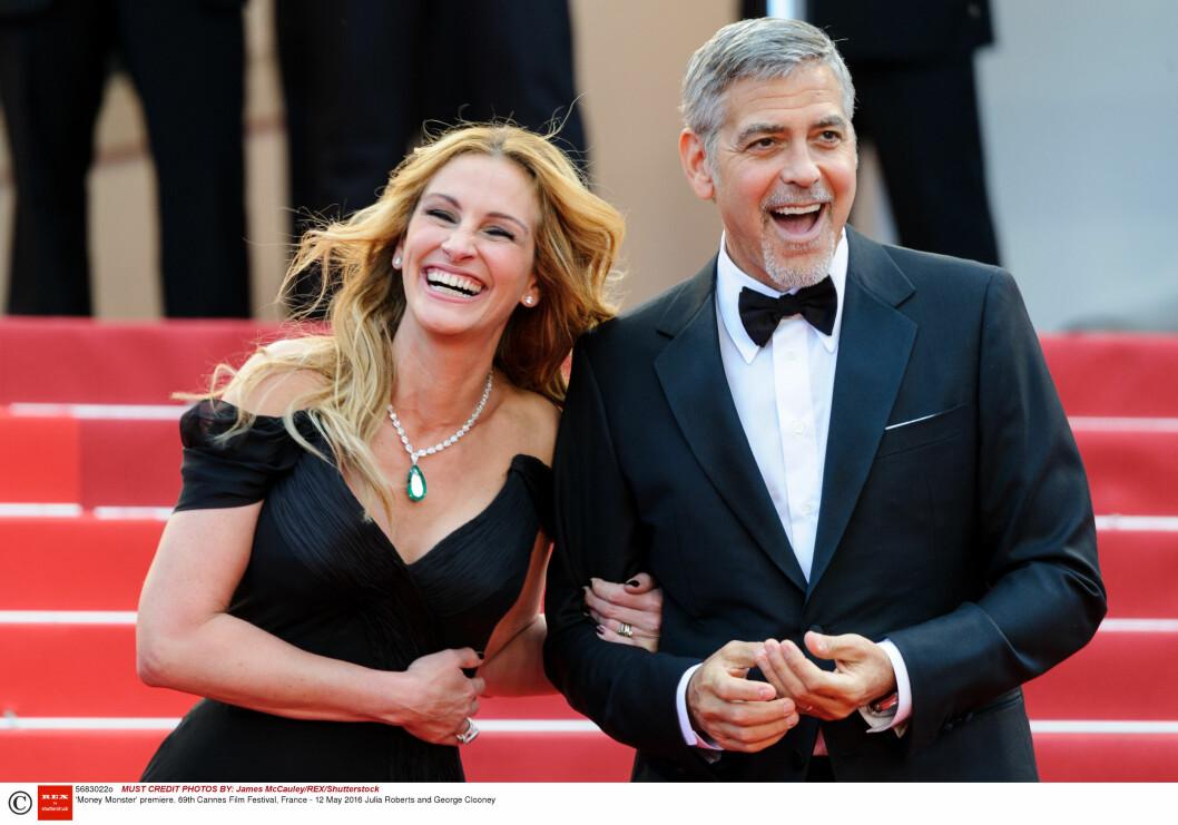 Julia Roberts og George Clooney på premieren av «Money Monster» under Cannes Film Festival i 2016.