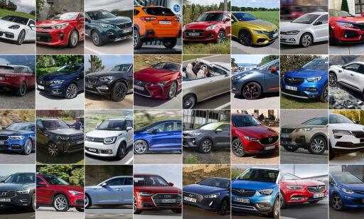 image: Én av disse blir Årets Bil 2018