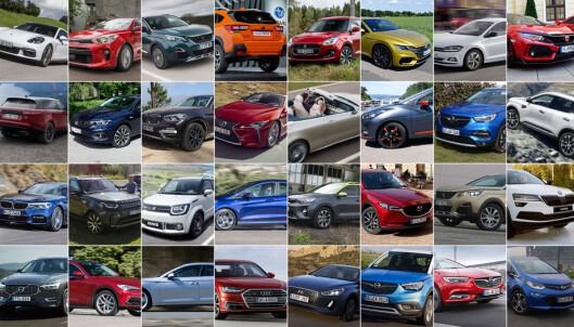 Én av disse blir Årets Bil 2018