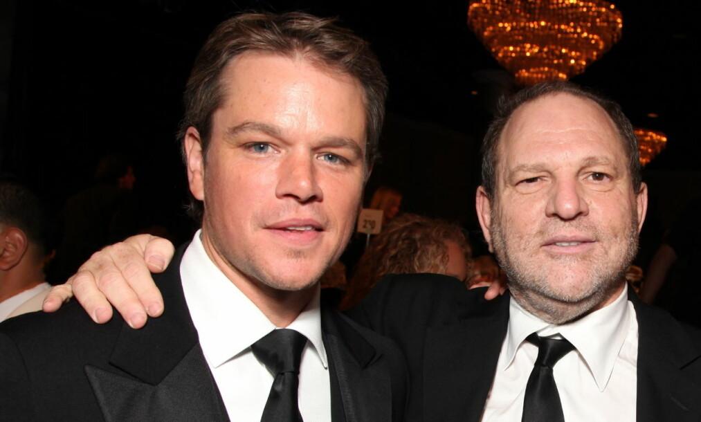 BEKLAGER: Matt Damon beklager dersom han har oversett Weinsteins oppførsel opp gjennom tidene, men hevder produsenten aldri har gjort noe åpenlyst. Foto: NTB Scanpix.