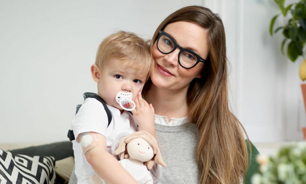 STAMCELLER: Herbert (3) har diabetes type 1. Mor Åsa (40) lagret lillebrorens stamceller, i tilfelle de kan brukes i fremtiden. Foto: Privat