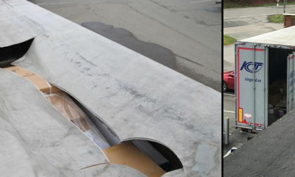 image: Skar opp taket mens sjåføren sov. Stjal varer for 150 000 kroner
