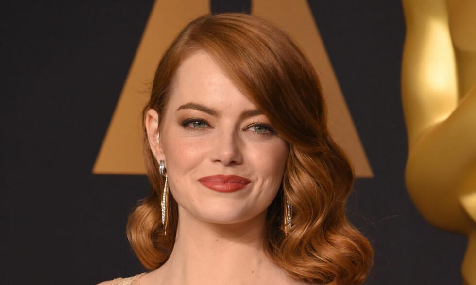 FORELSKET: Skuespiller Emma Stone skal ha funnet lykken med tv-regissør. Foto: Shutterstock