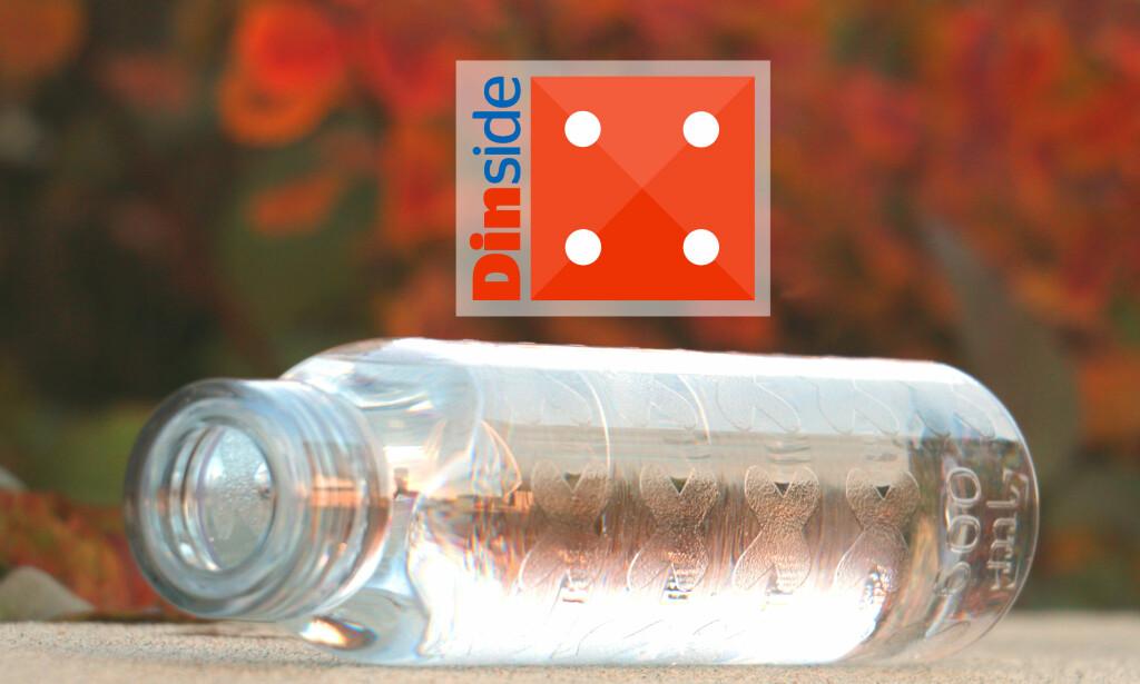 image: Kun seks av 15 drikkeflasker er tette