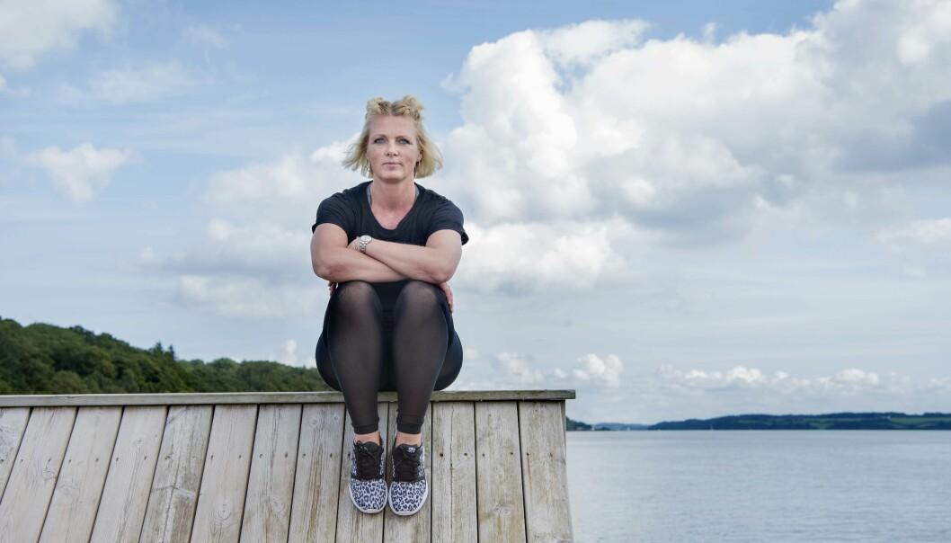 GRAVID OG KREFT: Etter denne første føflekken med kreftceller i, fikk Pia fjernet 25 andre som også var farlige. FOTO: Maria Tuxen Hedegaard