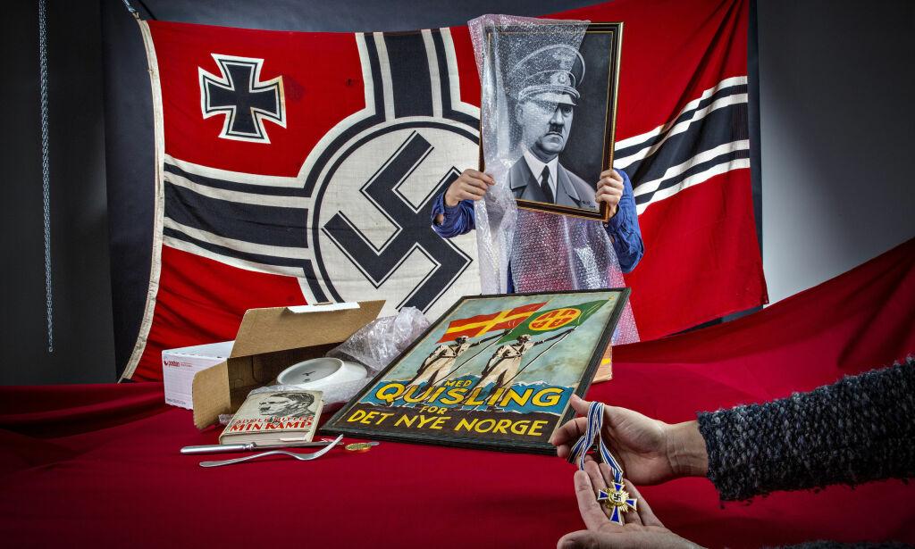 image: Mens verdens største nettaktører lager regler for å stoppe spredning av rasehat, er det fritt fram for nazihandel på Finn.no