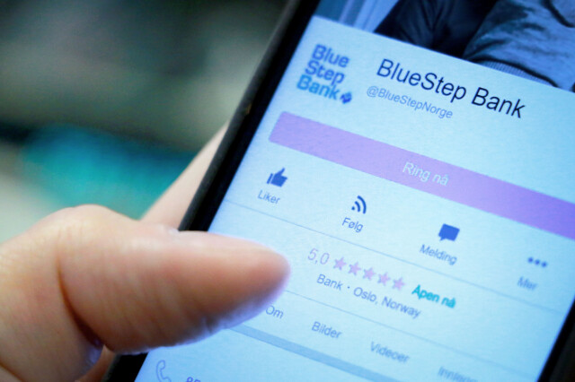 e9cc1b181914 RANGERTE SEG SELV  BlueStep Bank hadde fem anmeldelser på Facebook. Alle  disse fem ga