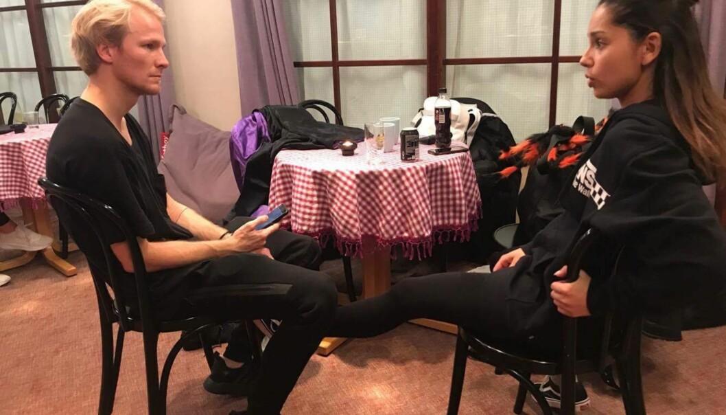 <strong>IMPONERER:</strong> Jorun Stiansen og dansepartneren Fredric er er nå blant de fem siste parene som er igjen i konkurransen. Foto:TV 2.