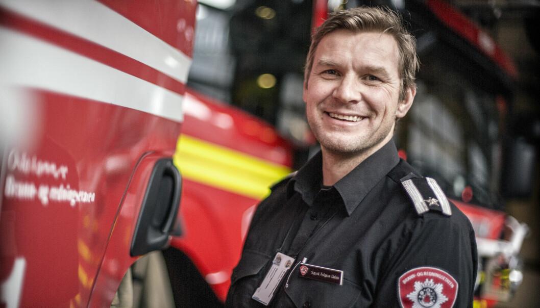 <strong>BRANNINSPEKTØR:</strong> Sigurd Folgerø Dalen. Foto: Oslo brann - og redningsetat.