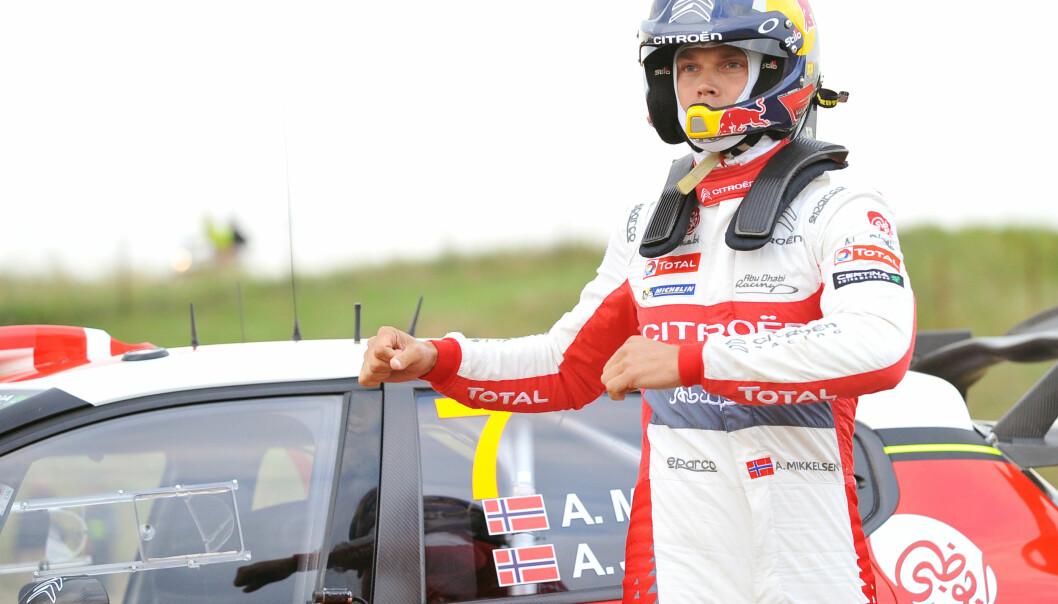 <strong>KJEMPER OM PALLPLASS:</strong> Andreas Mikkelsen har kjørt seg opp i Rally Storbritannia. Foto: Norbert Barczyk/PressFocus/REX/Shutterstock