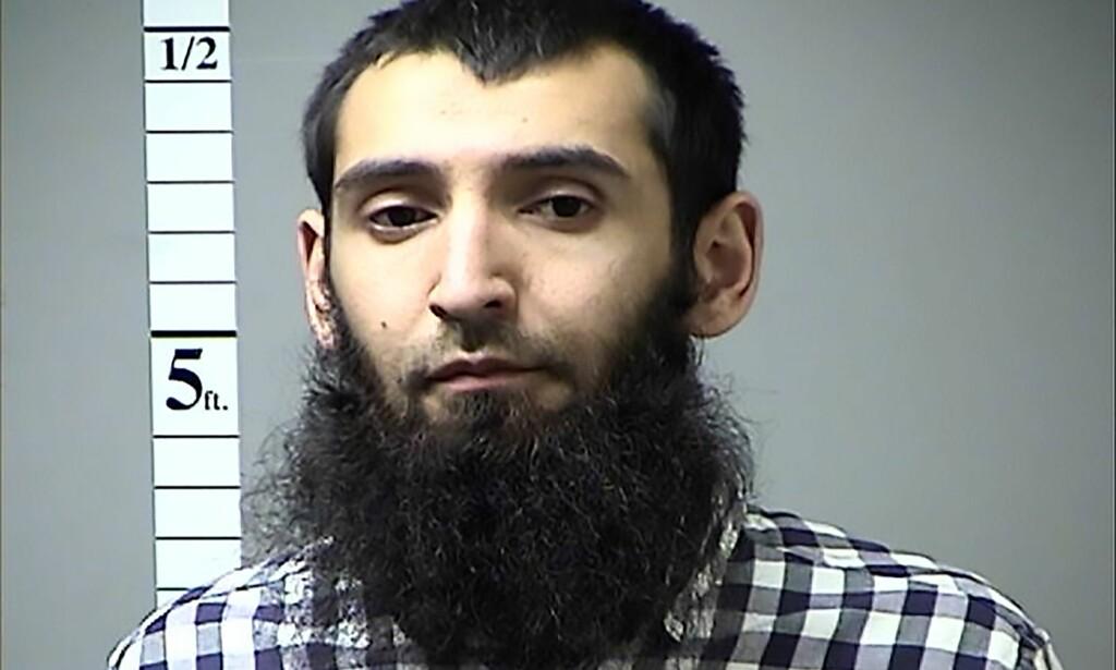 RADIKALISERT I USA: Etterforskningen har avdekket at Sayfullo Saipov (29) etter alt å dømme ble radikalisert i USA, etter at han innvandret fra Usbekistan i 2010. Foto: Kriminalomsorgen i St. Charles fylke, Missouri / AFP / NTB Scanpix