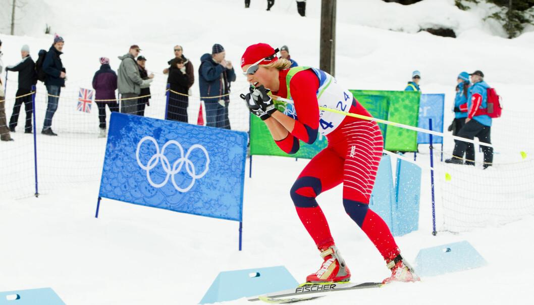 RÅ: Vibeke Skofterud i aksjon under 10 km fristil langrenn under OL i Vancouver 2010. Hun la opp i 2015. Foto: NTB Scanpix