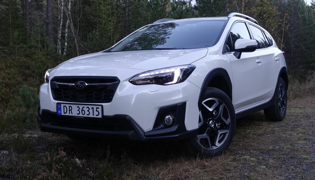 <strong>RØFF:</strong> Subarus slagord er «ustoppelig». XV skal være bra i terrenget, noe hverken vi eller de fleste av kundene får anledning til å teste fullt ut. Foto: Rune M. Nesheim