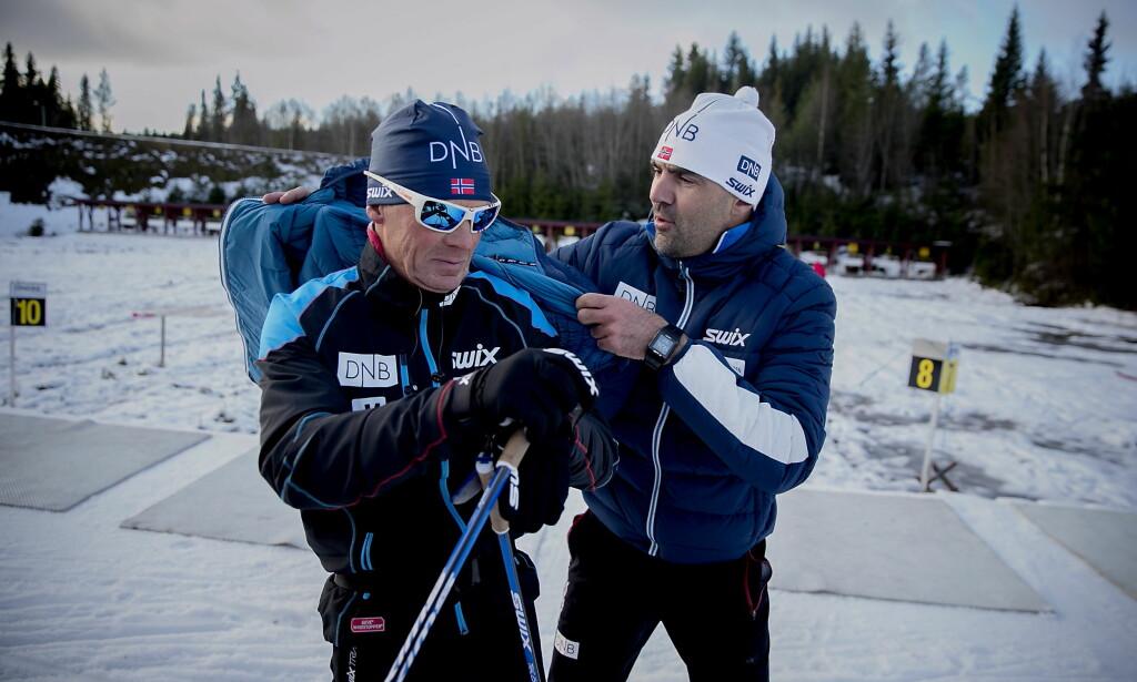 POSITIVE: Landslagets trenere Egil Kristiansen og Siegfried Mazet (t.v.). Foto: Bjørn Langsem / Dagbladet.