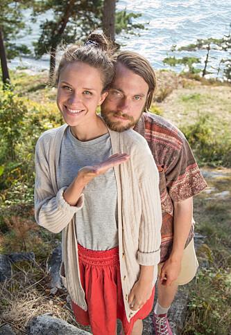 NYTT PAR: I «Neste sommer» spiller Kristin Jess Rodin og Arthur Berning det nye paret Siggen og Egil. Foto: NTB Scanpix