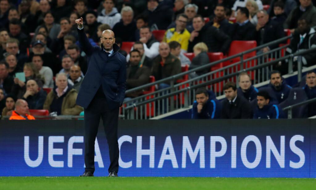 REGJERENDE MESTERE: Zinedine Zidane ledet Real Madrid til Champions League-gull. Foto:  REUTERS/Eddie Keogh/NTB Scanpix