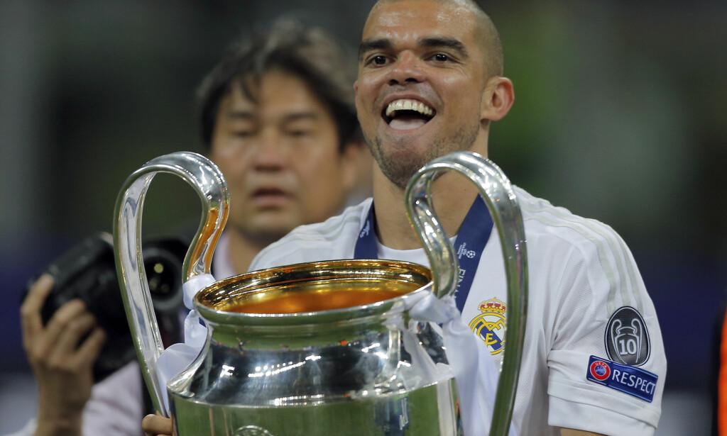 FVANT CHAMPIONS LEAGUE: Real Madrid og Pepe. Foto: AP/Manu Fernandez/NTB Scanpix