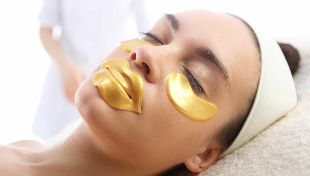SLIK KAN DE SE UT: En leppemaske kommer gjerne i en gull-farget variant som du ser her. Foto: Scanpix