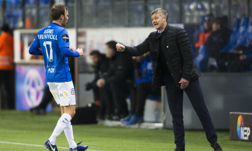 SURT TAP: Ikke bare tapte Molde og Ole Gunnar Solskjær mot lillebror Kristiansund. Tapet gjorde også erkerival Rosenborg til seriemestere. Foto: Svein Ove Ekornesvåg / NTB scanpix