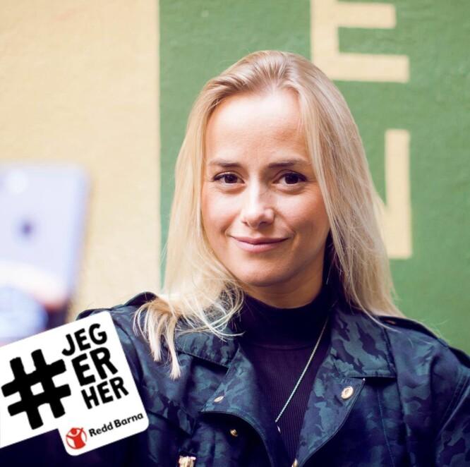 ENGASJERT: Tale Maria Krohn Engvik (t.h.) driver den populære Snapchat-kontoen «Helsesista», og deltok på frokosten på Kulturhuset i Oslo i begynnelsen av november. Foto: Redd Barna/Frida Marie Grande