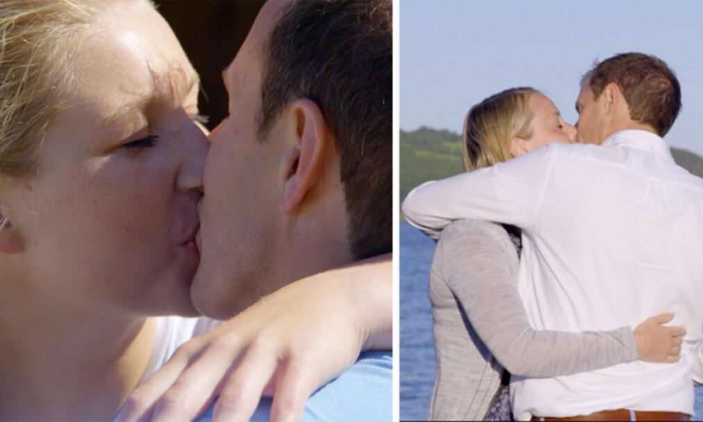 <strong>TREKANTDRAMA:</strong> I kveldens episode av «Jakten på kjærligheten» kysser bonde Ingvar Alstad begge sine gjenværende friere. I forkant hadde imidlertid jentene inngått en hemmelig avtale, som han ikke var klar over. Foto: TV 2