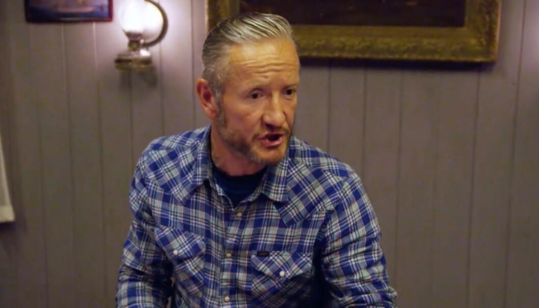 «NU E Æ LYNINGS»: Geir Magne Haukås (47) tordnet mot beskyldninger om løgn på tv-gården, og konstaterte blant annet at «løgnaktige tunger er svineri». Foto: TV 2