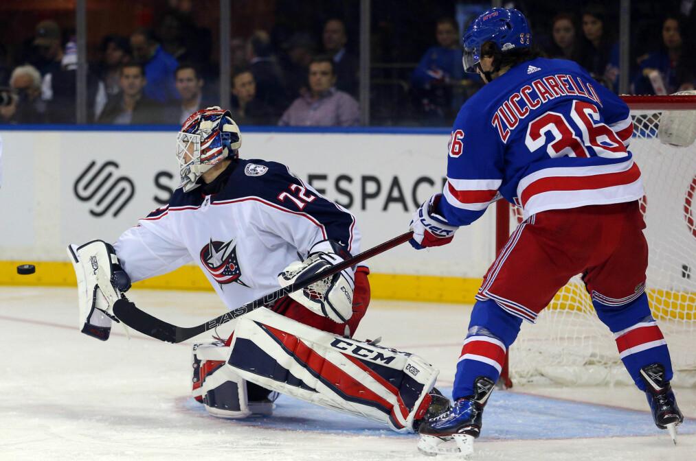 <strong>Seier:</strong> Rangers vant nattens kamp 5–3. Foto: Brad Penner / USA Today Sports / NTB Scanpix