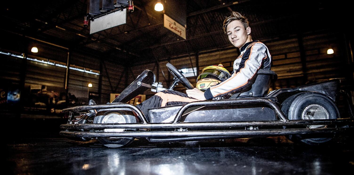 SUPERTALENT: Dennis Hauger bytter ut go-karten med formel 4-bil neste sesong etter å ha bli plukket opp av Red Bulls motorsportsatsing. Foto: Thomas Rasmus Skaug / Dagbladet