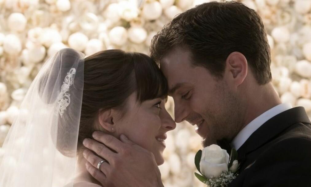 «FIFTY SHADES FREED»: Det er ingen tvil om at det blir hett mellom Anastasia og Christian, også i tredje film av serien. FOTO: Fifty Shades Freed