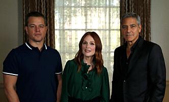 <strong>REGISSØR:</strong> George Clooney er regissør for filmen «Suburbicon», med skuespillerne Matt Damon og Julianne Moore i hovedrollene. FOTO: Reuters
