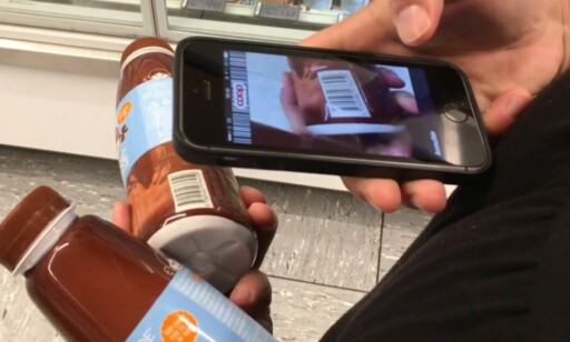 SELVBETALING: Scan koden og vips, så er varen betalt. Foto: Coop Danmark