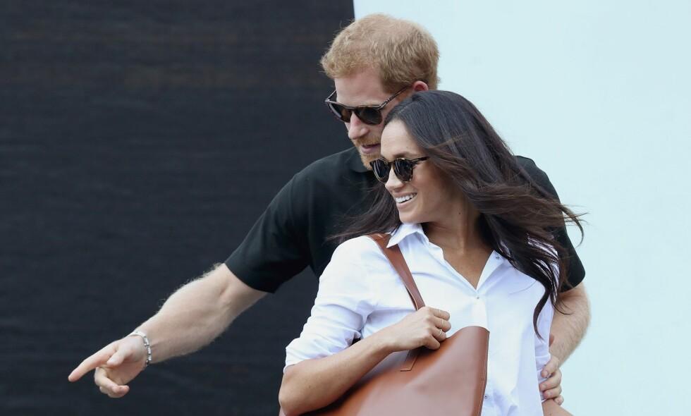 SNART FORLOVET?: I en ny dokumentar om prins Harry og hans skuespillerkjæreste Meghan Markle, kommer det frem at en forlovelse kan være rett rundt hjørnet. Foto: NTB Scanpix