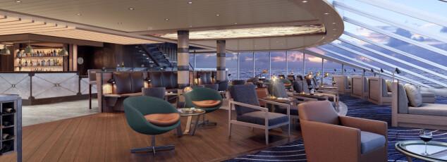 <strong>UTSIKT:</strong> Foran på skipene kommer de nye innendørs og utendørs observatoriesenter.