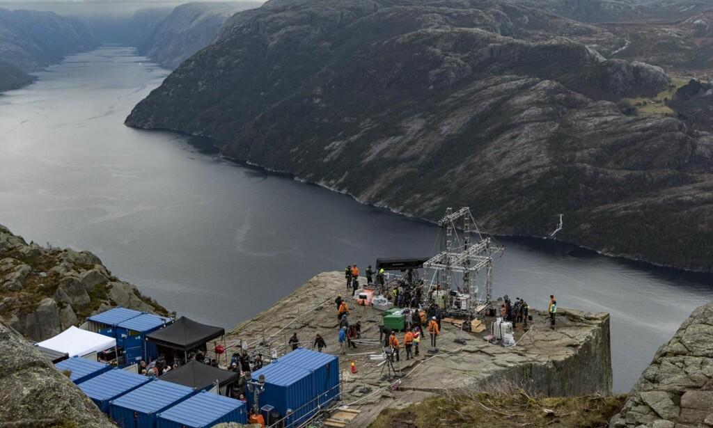 STENGT LANDEMERKE: Preikestolen vil få langt flere turister på besøk etter at Mission Impossible 6 har gått sin seiersgang på kinoer over hele verden. Foto: Tommy Ellingsen / Dagbladet