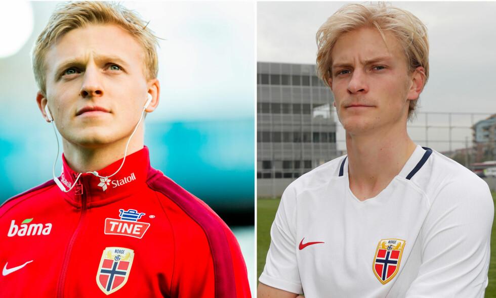 GODE VENNER: Mats Møller Dæhli (t.v.) og Morten Thorsby er for første gang på landslaget sammen. Foto: NTB Scanpix