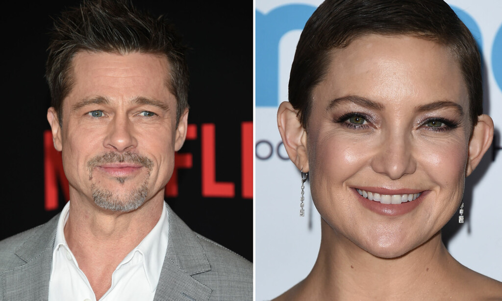 BLADET FRA MUNNEN: Tidligere i år oppsto det rykter om at filmstjernene Brad Pitt og Kate Hudson hadde funnet tonen. Nå bryter sistnevnte tausheten. Foto: NTB scanpix