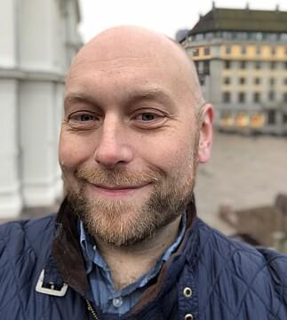 GODT FRONTKAMERA: På iPhone X får du portrettmodus også på frontkameraet, der bakgrunnen gjøres kunstig uskarp. Foto: Pål Joakim Pollen