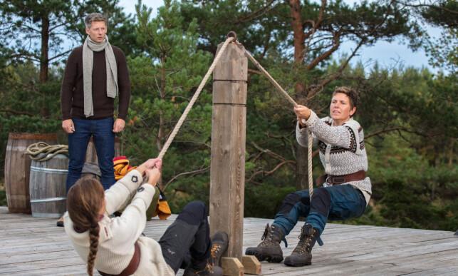 KREVENDE TVEKAMP: Karoline Røed var aldri i nærheten av å ta igjen motstanderen Eunike Hoksrød. Foto: Alex Iversen / TV 2