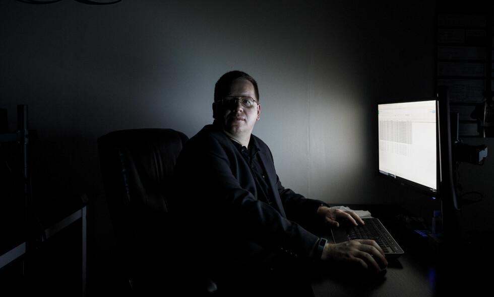 AVKLEDD: Jake Williams fikk bevegelsesfriheten innskrenket etter at hans fortid i NSA ble avslørt av Shadow Brokers. Foto: Dustin Chambers / The New York Times